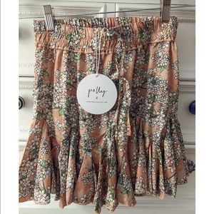 Princess Polly peach mini skirt